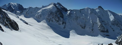 Glacier de Tret la Tête depuis les Dômes de Miage