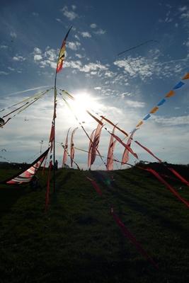 Cervolix, festival du cerf-volant, se tient tous les ans sur le plateau de Gergovie