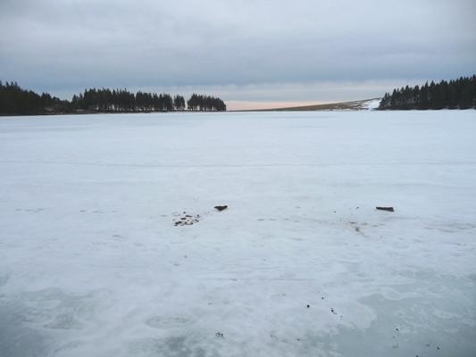 Le lac Servières glacé