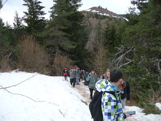 Sommet enneigé du Puy de la Vache