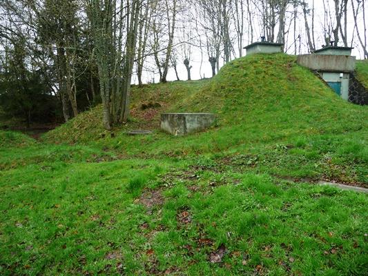 L'excursion de Lachamps est visible au niveau du château d'eau