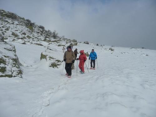 randonnée raquettes à neige à superbesse